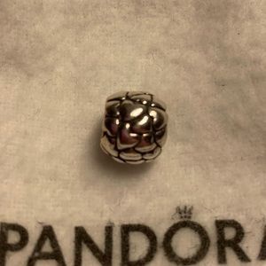 Beautiful silver Pandora hearts charm